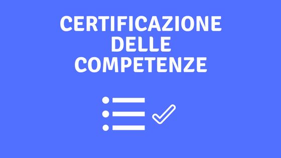 Risultati immagini per certificato delle competenze